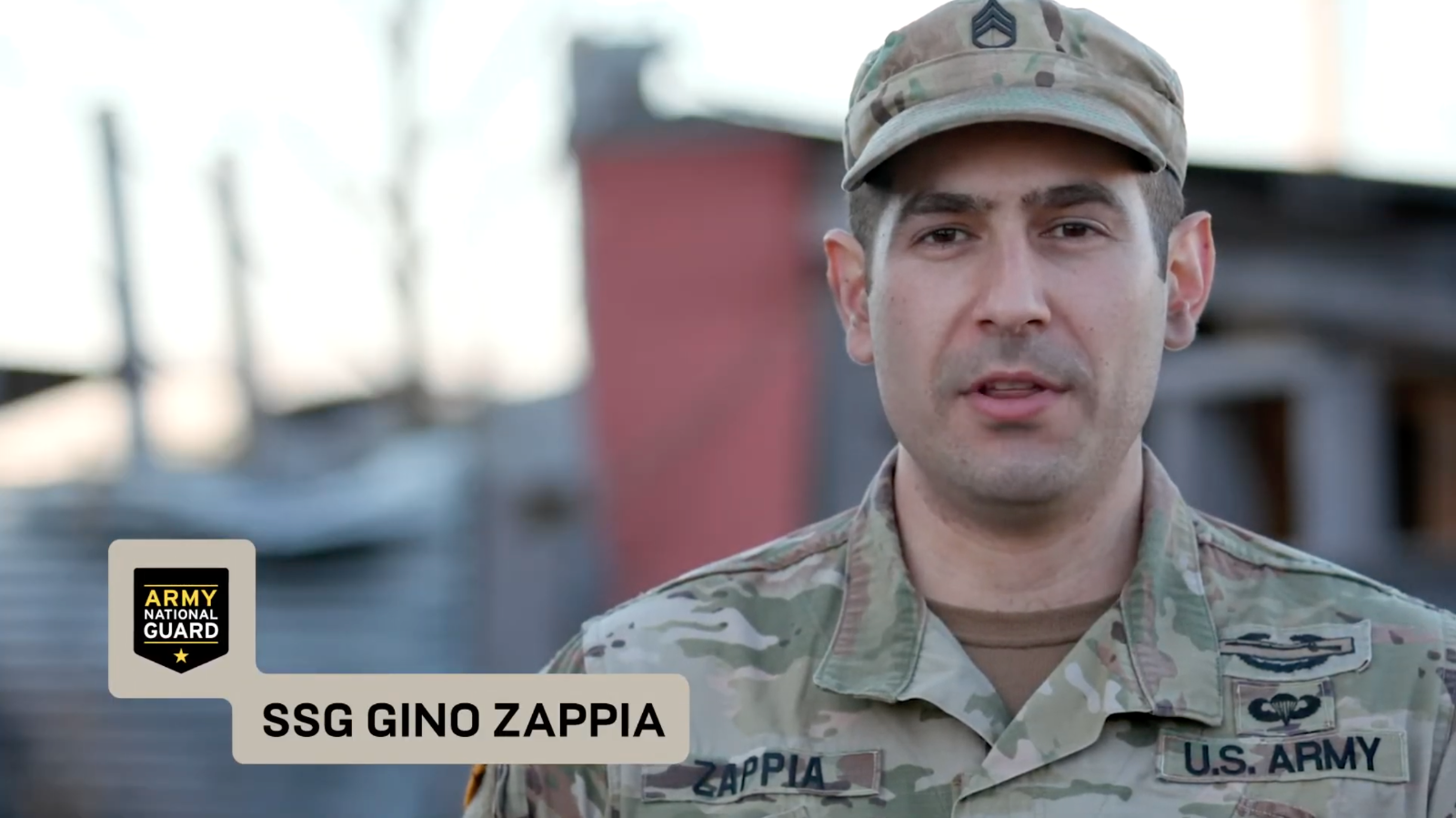 Behind the scenes of an Army National Guard photo shoot with SSG Gino Zappia