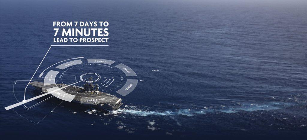 Navy aircraft carrier radar graphic